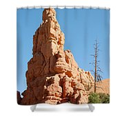 Red Canyon Rock Formation Shower Curtain