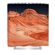 Red Canyon Swirls Shower Curtain