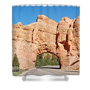 Red Canyon Tunnel Shower Curtain