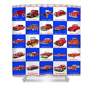 Red Cars Of America Shower Curtain