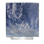 Red Center Road Shower Curtain by Douglas Barnard