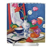 Red Chair And Tulips, C.1919 Shower Curtain
