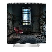 Red Chair - Art Deco Decay - Gary Heller Shower Curtain