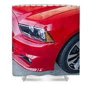 Red Charger 1508 Shower Curtain