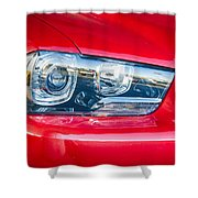 Red Charger 1521 Shower Curtain