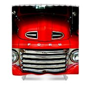 Red Cheeks Ford Shower Curtain