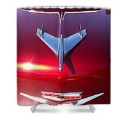 Red Chevy Car Hood  Shower Curtain