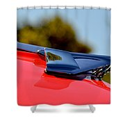 Red Chevy Hood Shower Curtain