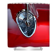 Red Chevy Hood Ornement Shower Curtain