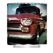 Red Chevy Pickup Shower Curtain