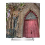 Red Church Door Shower Curtain
