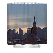 Red Church Shower Curtain