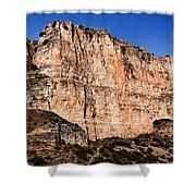 Red Cliffs Blue Sky Shower Curtain