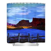 Red Cliffs On The Colorado Shower Curtain