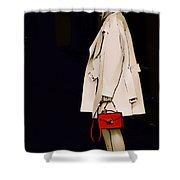 Red Clutch Shower Curtain