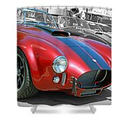 Red Cobra Shower Curtain