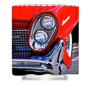Red Hot Continental Palm Springs Shower Curtain
