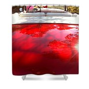 Red Convertible Shower Curtain