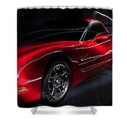 1997 Red Corvette Shower Curtain
