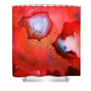 Red Cosmos Shower Curtain