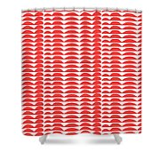 Red Cut Outs- Abstract Pattern Art Shower Curtain