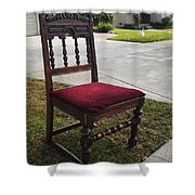 Red Cushion Chair Shower Curtain