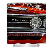 Red Customized Retro Pontiac-front Left Shower Curtain