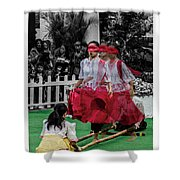 Red Dancing Shower Curtain