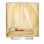 Red Dawn Shower Curtain