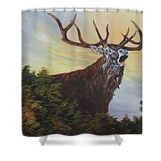 Red Deer - Stag Shower Curtain