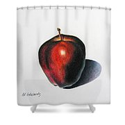 Red Delicious Apple Shower Curtain