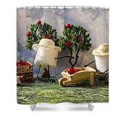 Red Delicious Shower Curtain