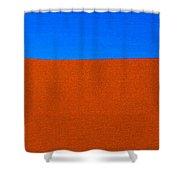 Red Desert Blue Sky Shower Curtain