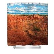 Red Desert Landscape Shower Curtain