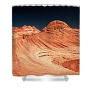 Red Desert Swirls Shower Curtain
