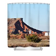 Red Dirt And Oil And Gas Shower Curtain