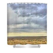 Red Dirt Blue Storm Shower Curtain