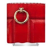 Red Door 02 Shower Curtain