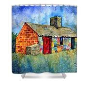 Red Door Cottage Shower Curtain