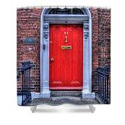 Red Door Dublin Ireland Shower Curtain