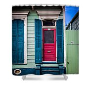Red Doored House Shower Curtain