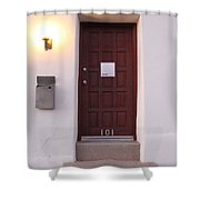 Red Doors Of Tucson Shower Curtain