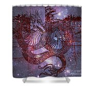 Red Dragon 2 Shower Curtain