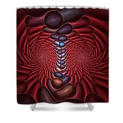 Red Dragon Fractal Shower Curtain