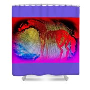 This Red Dragon Is Hot And Ready To Fly Off  Shower Curtain