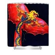 Red Dragon Kite Shower Curtain