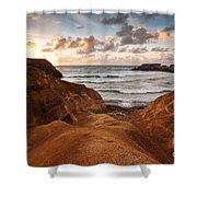 Red Dunes Sunrise Shower Curtain