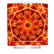 Red Dynasty Shower Curtain