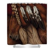 Red Eagle Shower Curtain by Pat Erickson