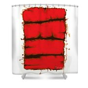 Red Element Shower Curtain